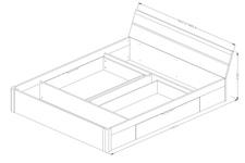 łóżko Beta 22AE1652 z szufladami