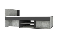 łóżko 90cm z szufladą i kontenerkiem NANO NA13 L/P