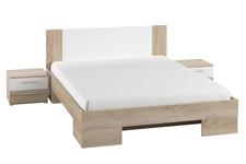 łóżko 160cm z szafkami nocnymi Vera typ 81 dąb sonoma/biel