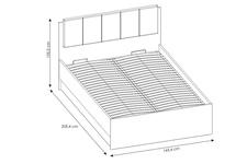 łóżko 140cm LYON JASNY TYP LYOZ02