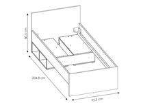 łóżko 90cm Nubi NUBZ04