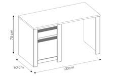 biurko Novi TYP NVIB01