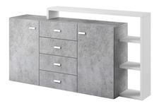 komoda Bota TYP27 biały/beton colorado