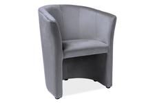 fotel TM-1 Velvet szary
