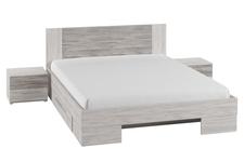 łóżko 160cm z szafkami nocnymi Vera typ 81 arctic pine jasny