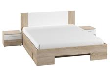 łóżko 180cm z szafkami nocnymi Vera typ 82 dąb sonoma/biel