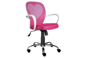 fotel obrotowy Daisy różowy