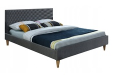 łóżko 160cm Azurro Velvet szary/dąb