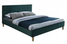 łóżko 140cm Azurro Velvet zielony/dąb