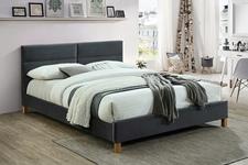 łóżko 160cm Sierra Velvet szary/dąb