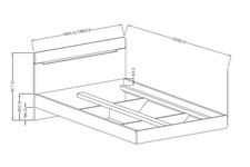 łóżko 160cm Hektor Typ 31