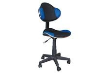 fotel obrotowy Q-G2 niebiesko-czarny