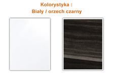 komoda Vera 2297DH26 biały/czarny orzech