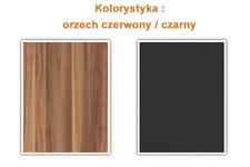 komoda Vera 229SDH26 czerwony orzech/czarny