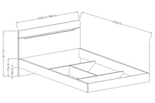 łóżko 160cm Hektor