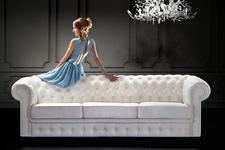 sofa Chesterfield 3os. z funkcją spania